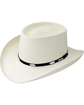 Stetson Men's Royal Flush 10X Shantung Straw Cowboy Hat Natural 6 3/4