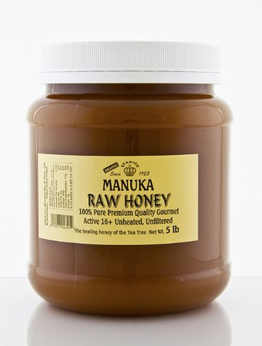 MANUKA RAW HONEY 6 JARS (5-lb/JAR) ACTIVE 16+