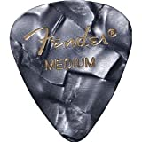 41iRuaE2WqL. SL160  Fender 351 Premium Celluloid Guitar Picks, 12 Pack, Black Moto, Medium