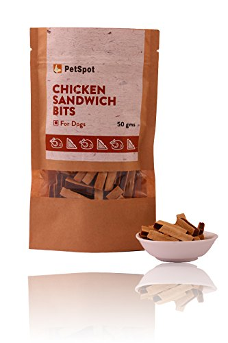 PetSpot Chicken Sandwich Bits Dog Treat, 50 G