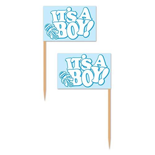 Beistle 60320 It's A Boy! Picks, 2.5