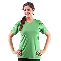 Miauw Women's T Shirt (BCA-203 _Dark Green_Medium)
