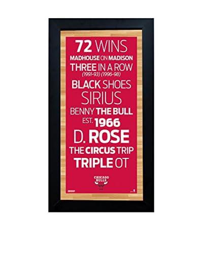 Steiner Sports Memorabilia Framed Chicago Bulls Desktop/Wall Hangable Subway Sign Wall Art