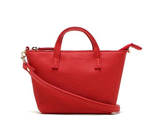 Borsetta Clode® Lady Fashion Women Hobo Borsa a Tracolla Del Messaggero Della Borsa Della Satchel Tote (Colour : Rosso)