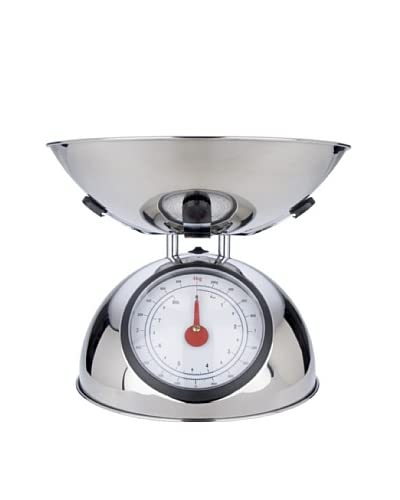 MIU France Polished Stainless Steel 8-Pound Analog Spring Scale