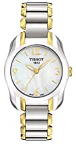 Tissot T-Wave Mother of Pearl Dial Two-tone Ladies Watch T0232102211700