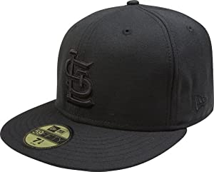 MLB St. Louis Cardinals Black on Black 59FIFTY Fitted Cap by New Era