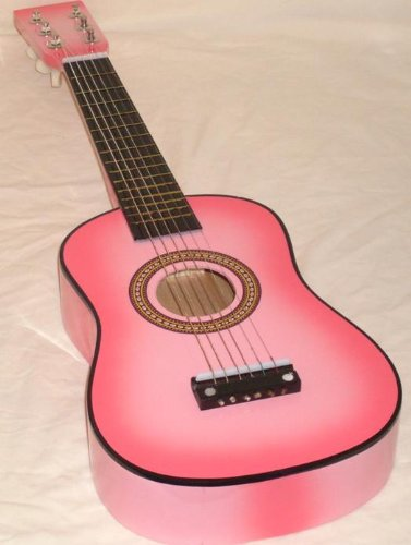 Mighty Instruments Kids 23-Inch Toy Guitar for Children Ages 3 and up - Pink