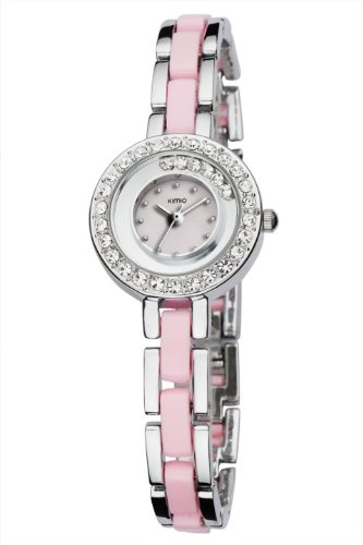 Ufingo-High End Luxury Fashion Crystal Bracelet Quartz Watch Gift For Women/Ladies/Girls-Pink