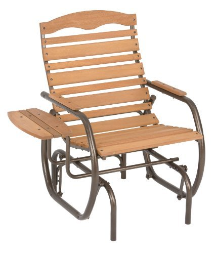 Furniture Outdoor Furniture Glider Slat Back Chair Glider