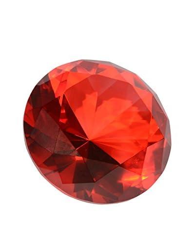 Uptown Down Desk Diamond in White Box, Ruby
