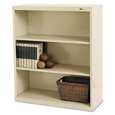 Tennsco B42PY 34-1/2 by 13-1/2 by 40-Inch Metal Bookcase with 3 Shelves, Putty Safco 3 Shelf Bookcase