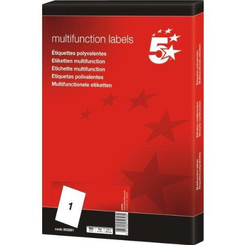 5-star-set-de-100-etiquetas-para-fotocopiadora-laser-y-de-tinta-1-por-hoja-297-x-210-mm