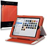 Apple iPad Techstyle PU Leather Folio Case With Stand (iPad 2 / 3 / 4 Retina) - Orange by Terrapinby TERRAPIN