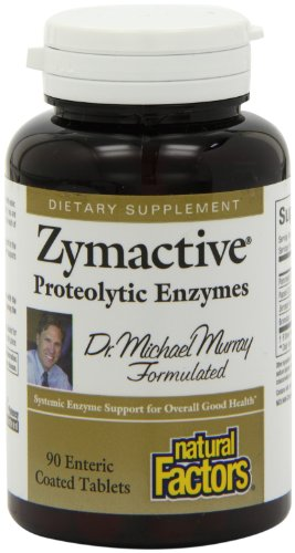 Natural Factors Zymactive Proteolytic Enzyme Tablets, 90-Count