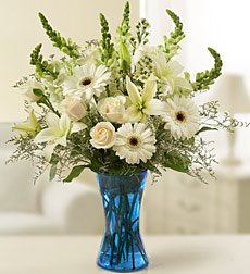 Funeral Flowers by 1800Flowers.com - Sympathy Arrangement In White