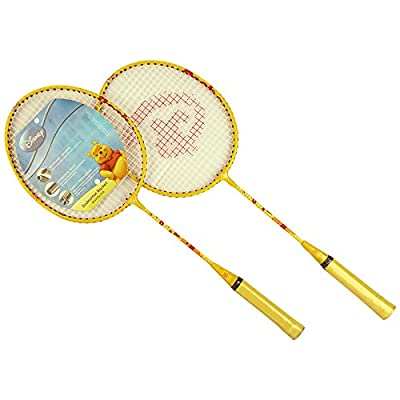 Disney DD1003 Winnie The Pooh Badminton Racket with 3/4 Cover (Yellow)