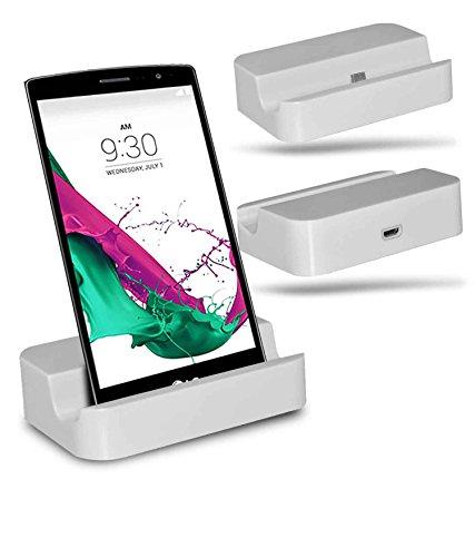 LG G4 Beat / LG G4s Station d'accueil de bureau avec chargeur Micro USB support de chargement - White - By Gadget Giant®