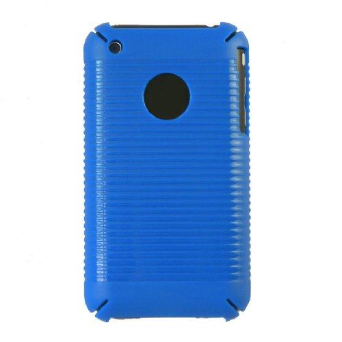 Casetronics Blue Stripe Hard Shell Case For Apple Iphone 3G / 3Gs