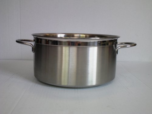 Casseruola due manici in acciaio INOX 18/10 Cm. 24 x 13