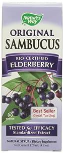 Nature's Way Sambucus Syrup, Elderberry, 4-Ounce