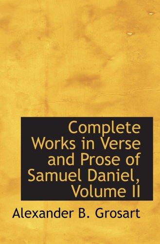 Complete Works in Verse and Prose of Samuel Daniel, Volume II