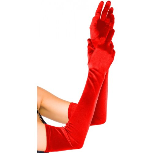 Extra Long Satin Gloves Accessory - One Size - Dress Size 6-12