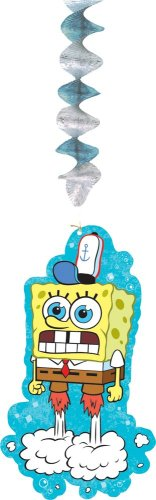 Designware Spongebob Dangling Wall Decoration, 3-Count Packages (Pack of 6)