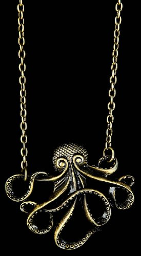 Zad Fashion Inc Antique Octopus Necklace (N5738GD) - Gold