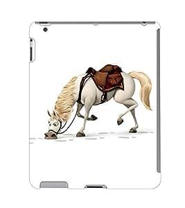 Fuson 3D Printed Horse Wallpaper Designer Back Case Cover for Apple iPad 4 - D885