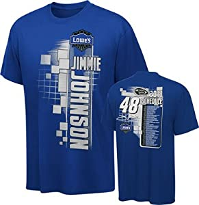 NASCAR Hendrick Motorsports Jimmie Johnson #48 Lowes Blue Starter T-Shirt by Checkered Flag