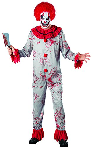 [Seasons Scary Circus Clown Costume] (Bozo Clown Costumes)