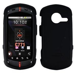 Black Rubberized Hard Plastic Case for Casio G'zOne Commando C771