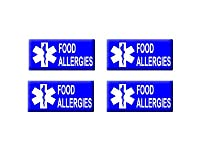 Food Allergies - 3D Domed Set of 4 Stickers from Stickers