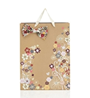 Bow Floral Print Large Bag