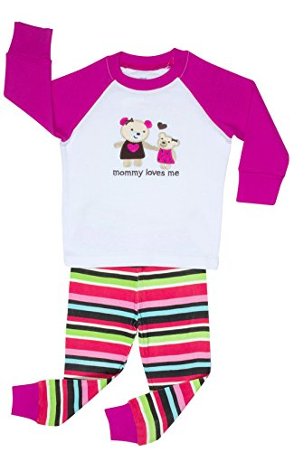 "Elowel ""Mommy Loves Me"" 2 Piece Pajama Set 100% Cotton - 18-24 Months front-11868"
