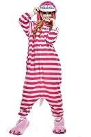 Newcosplay Unisex Cheshire Cat Pyjamas Kigurumi Halloween Costume