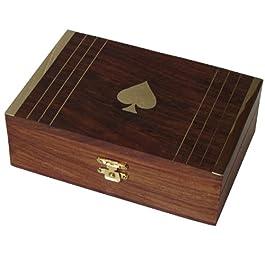 DakshCraft ® Ideas del regalo Joyero de madera de latón embutido