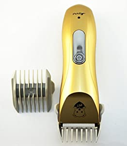 Fortech® Pet Grooming Shaver Wireless Pets Clipper Home Pet Trimmer for Dogs and Cats, 4 Types Combs Included(Gold)
