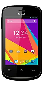BLU Dash JR K, Android 4.4 KK, 2MP - Unlocked (Black)