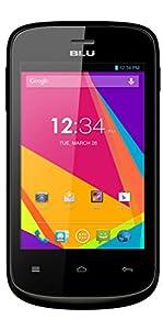 BLU Dash JR K, Android 4.4 KK, 2MP - Unlocked (Black)