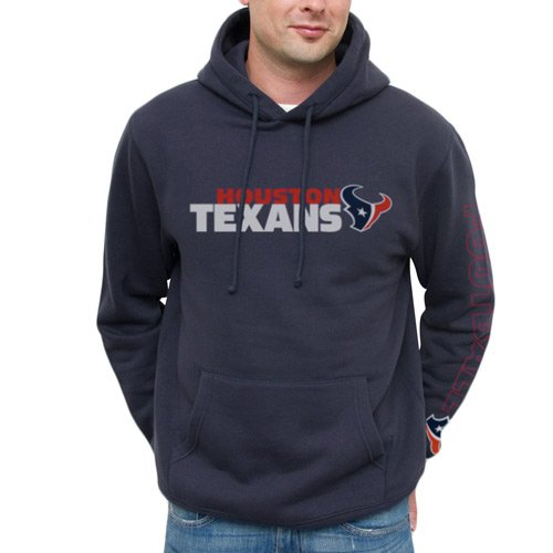 ... NFL Houston Texans Horizontal Text Pullover Hoodie – Navy Blue (Small) d1836cd4e