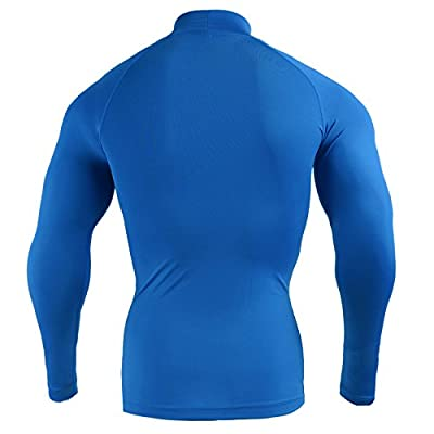 Emfraa Men Women Compression Turtleneck Mock Neck Base Layer Shirt Long Sleeve