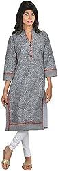 Goodyygoods Women's Cotton Regular Fit Kurti (GG 30, Black, X-Large)