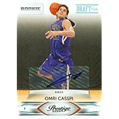 Omri Casspi Autographed Hand Signed Basketball Card (Sacramento Kings) 2009 Panini... by Hall of Fame Memorabilia