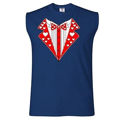 Valentine's Day Heart Tuxedo Sleeveless T-Shirt