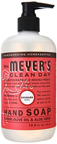 Mrs. Meyer's Clean Day Liquid Hand Soap, Rhubarb, 12.5 Fluid Ounce (Pack of 3)
