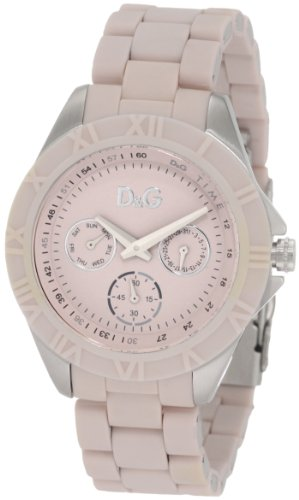 Dolce & Gabbana Women's Chamonix DW0780 Pink Stainless-Steel Quartz Watch with Pink Dial