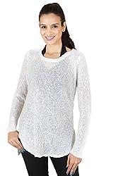 Sxy! Women's Tunic Top (SXGZ14057_White_Large)