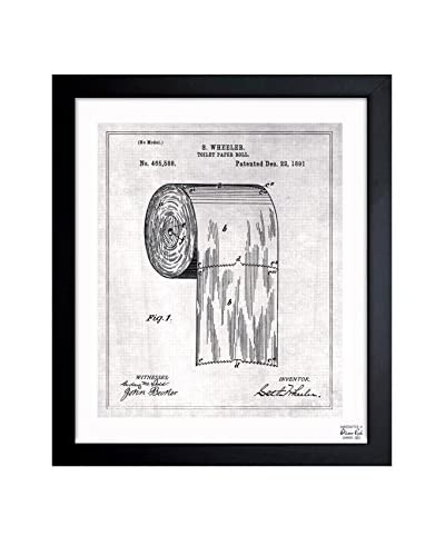 Oliver Gal Toilet-Paper Roll 1891 Framed Art